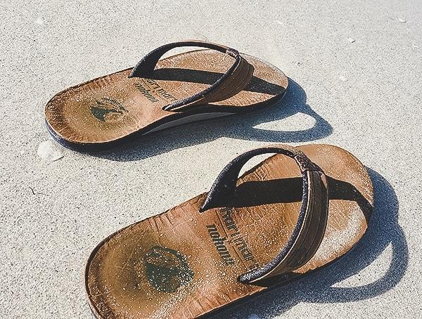 9541bdaa7 Mens Hari Mari X Nokona Top Grain Leather Sandals Review On Sandy Ocean  Beach