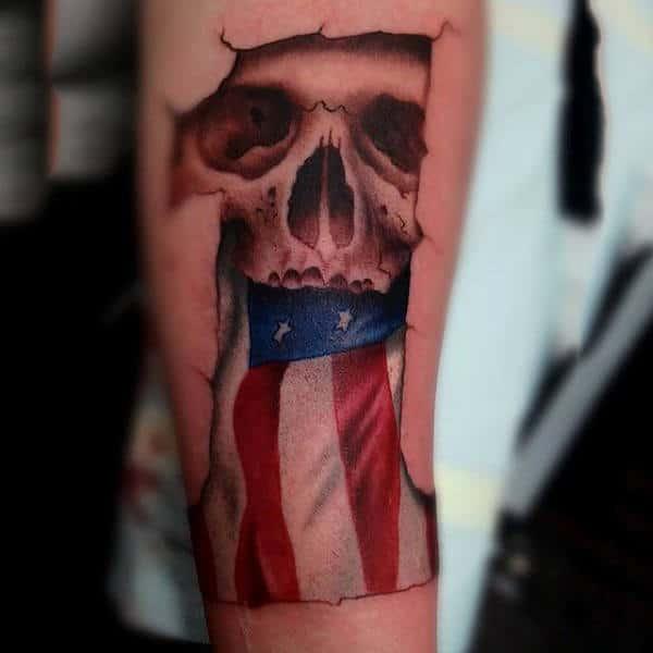 Mens Harley Davidson 1 Tattoo With Skull 3d Designs