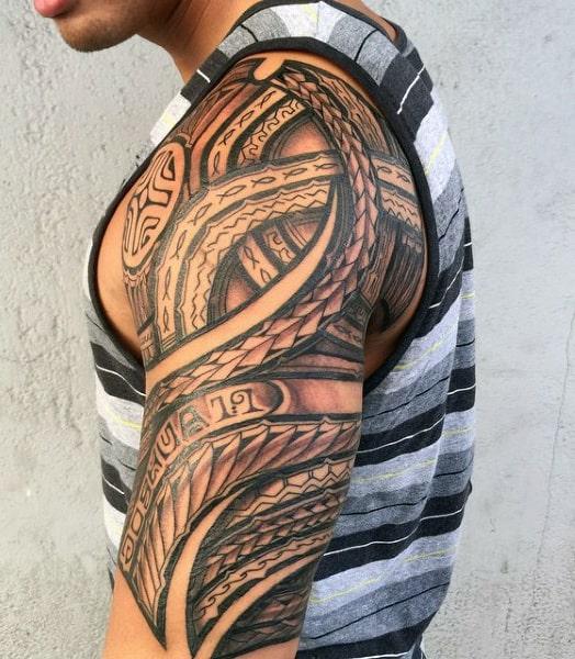 Men's Hawaiian Tattoo Designs
