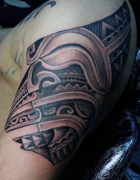 Men's Hawaiian Tattoos On Shoulder