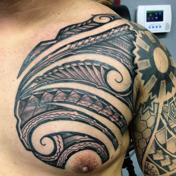 60 hawaiian tattoos for men traditional tribal ink ideas. Black Bedroom Furniture Sets. Home Design Ideas
