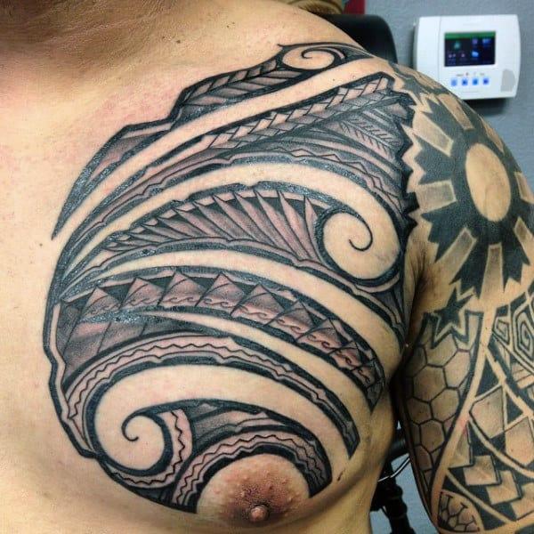 Men's Hawaiian Tribal Tattoo Designs