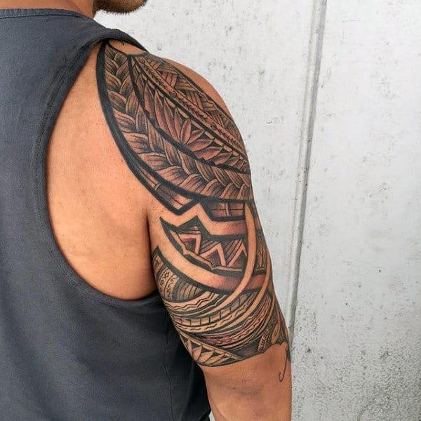 Men's Hawaiian Tribal Tattoos