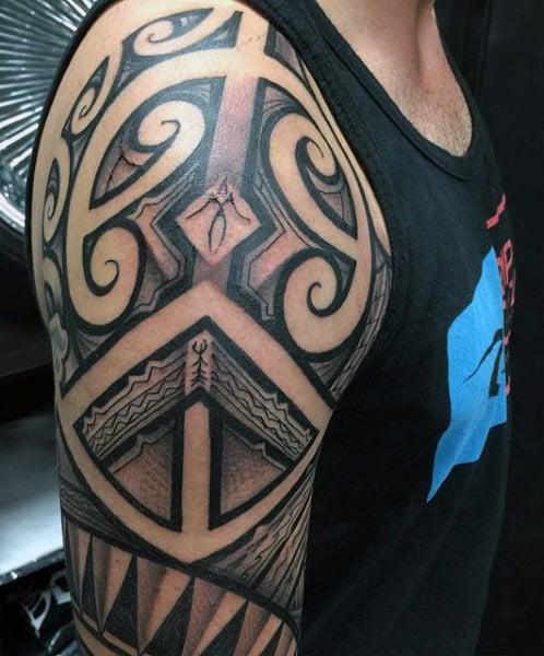 Men's Hawaiian Turtle Tattoo