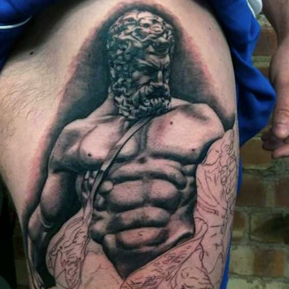 Mens Hercules Thigh Tattoo Ideas