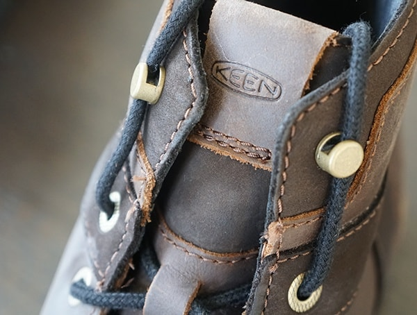 Mens Hiking Boots Detail Laces And Metal Hardware