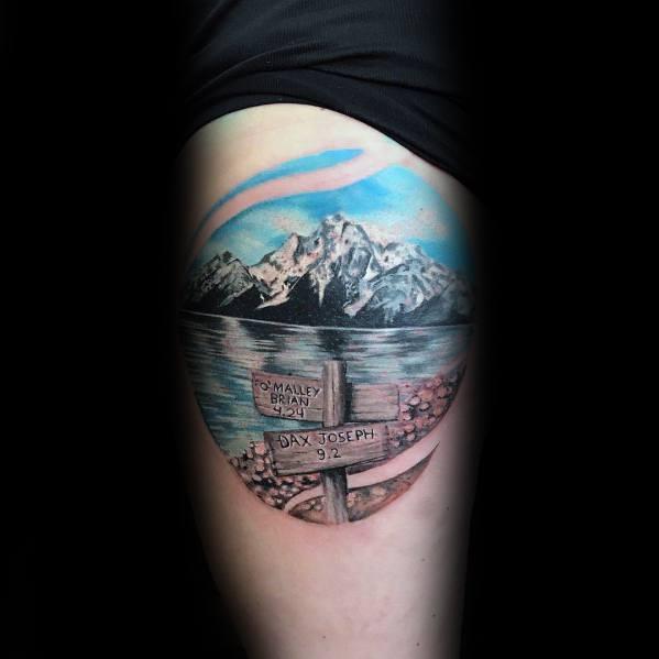 Mens Hiking Tattoo Designs