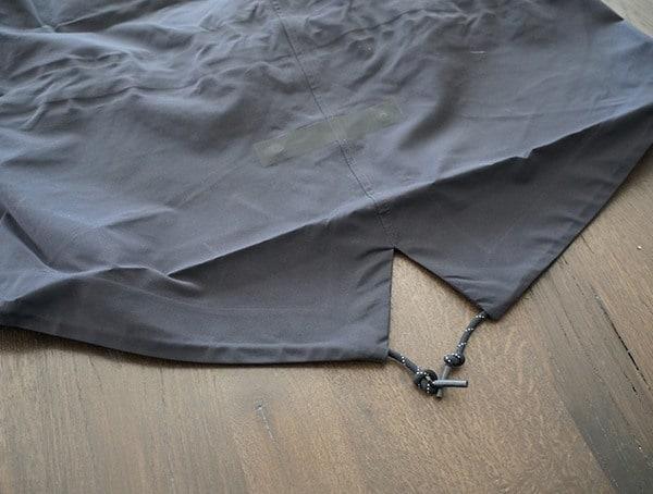 Mens Holden M 51 3 Layer Fishtail Jacket Hem Detail