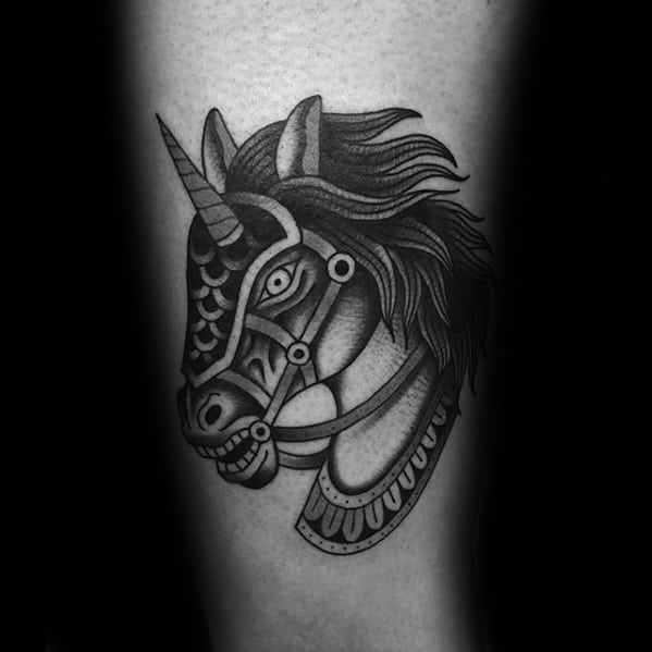Mens Horse Tattoo Design Inspiration