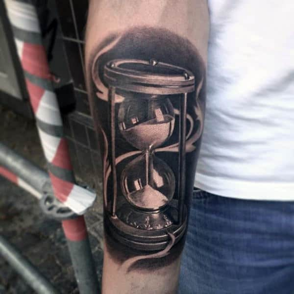 Mens Hourglass Tattoo Design