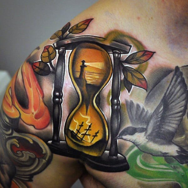 Mens Hourglass Tattoos