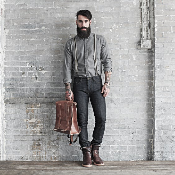 Mens How To Wear Grey Suspenders With Jeans Outfits Styles