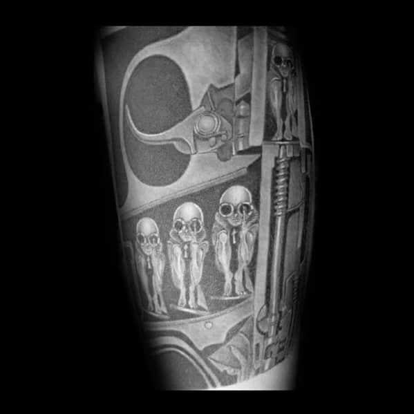 Mens Hr Giger Tattoo Ideas
