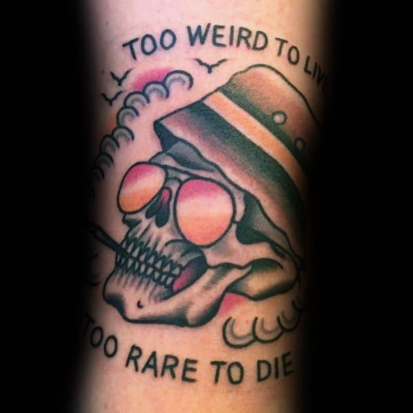 70 hunter s thompson tattoo designs for men fear and for Ride or die tattoo designs