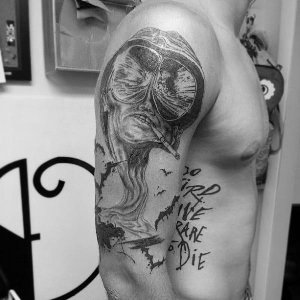 Mens Hunter S Thompson Tattoos