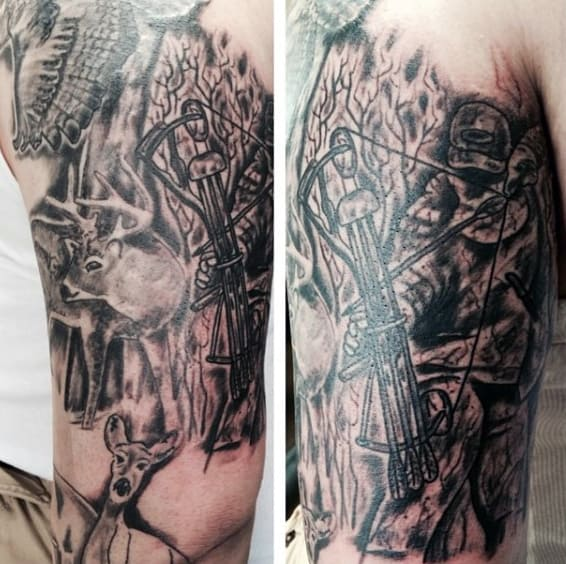 Men's Hunting And Fishing Tattoos