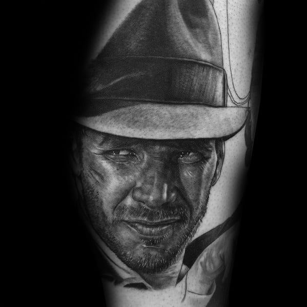 Mens Indiana Jones Tattoo Designs