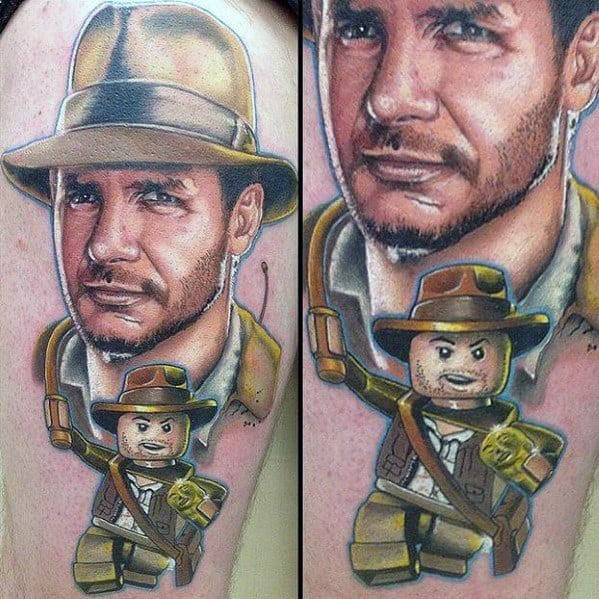 Mens Indiana Jones Tattoo Ideas