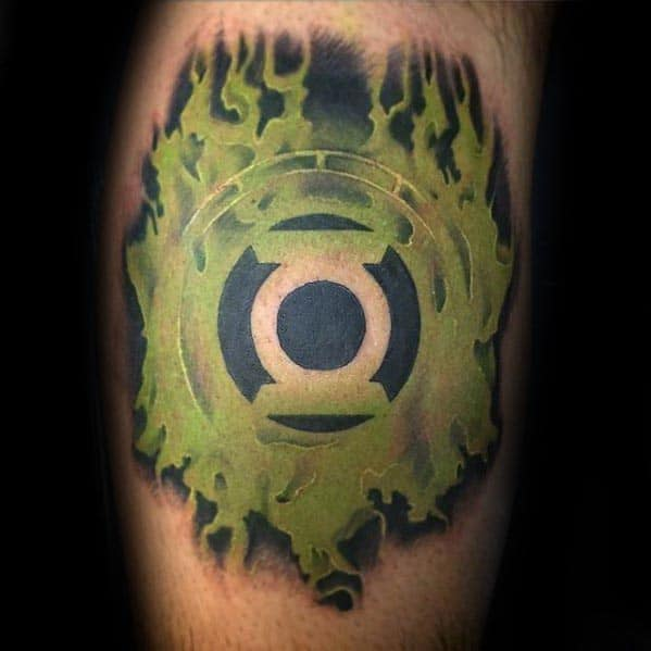 green lantern emblem tattoo images galleries with a bite. Black Bedroom Furniture Sets. Home Design Ideas