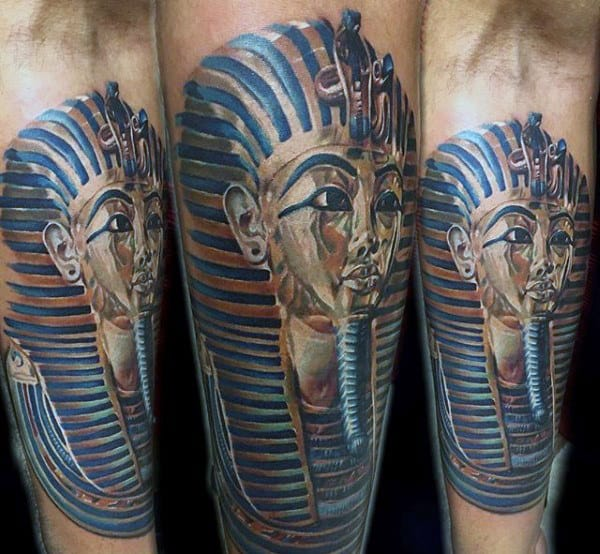 Mens Inner Forearm Cool King Tut Tattoos