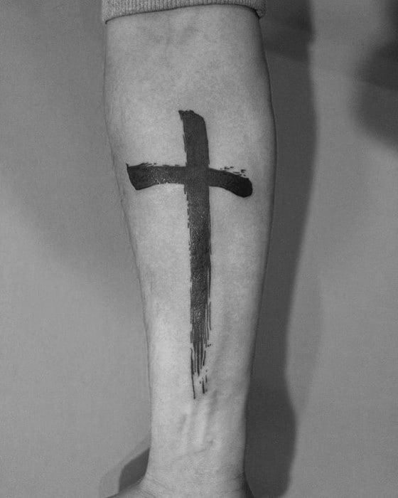 50 Simple Cross Tattoos For Men - Religious Ink Design Ideas
