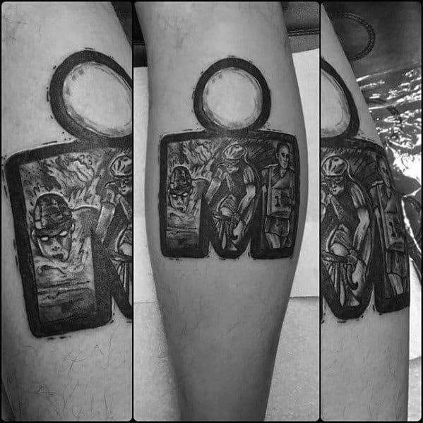 Mens Ironman Tattoo