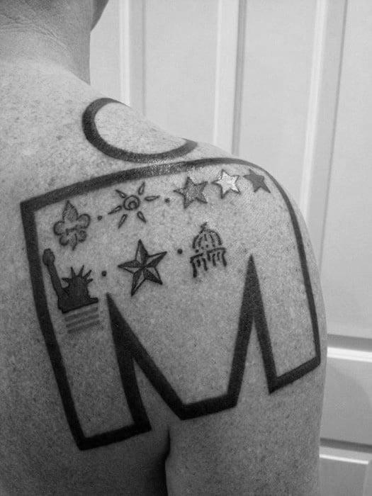 Mens Ironman Tattoos