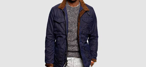 Men's J Crew British Millerain Waxed Cotton Field Jacket