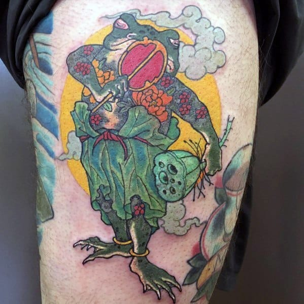 Mens Japanese Frog Tattoos