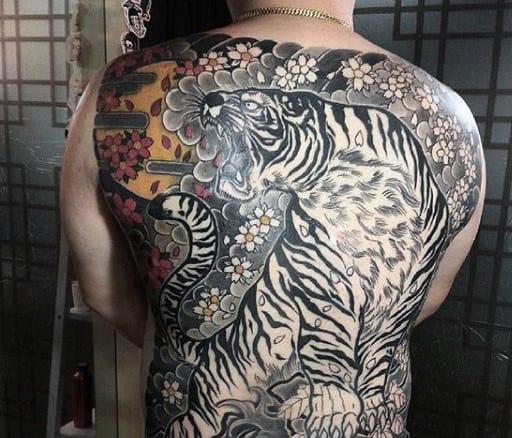 Men's Japanese Tiger Tattoo