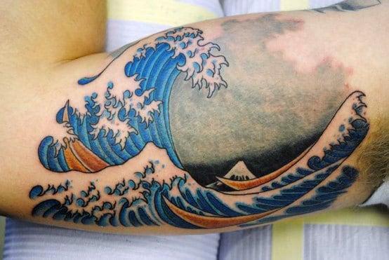 Top 60 Wave Tattoo Design Ideas 2020 Inspiration Guide
