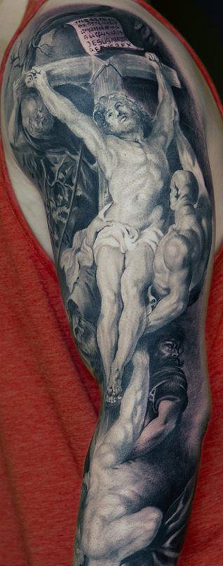Men's Jesus Tattoo Cross