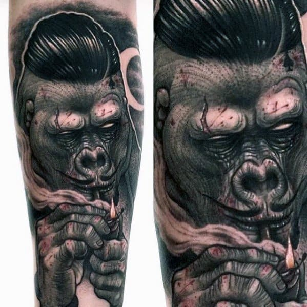 Mens King Kong Tattoo Design Ideas