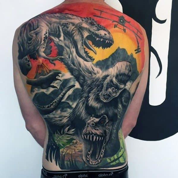 Mens King Kong Tattoo Ideas