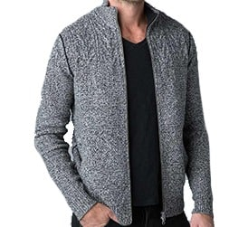 Mens Kinross Marled Cable Full Zip Cardigan Purchase