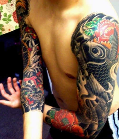 50 koi fish tattoo designs for men japanese symbol of