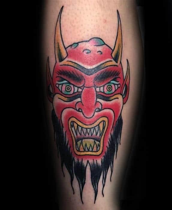 Mens Krampus Tattoo Design Ideas