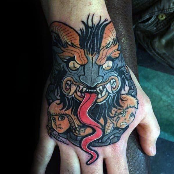 Mens Krampus Tattoo
