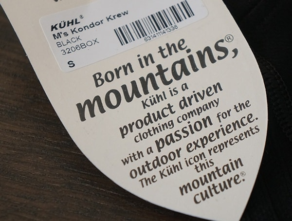Mens Kuhl Kondor Krew Base Layer Born In The Mountains Tag