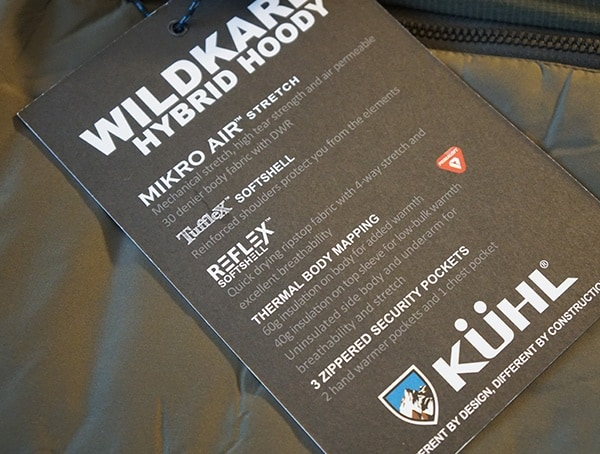 Mens Kuhl Wildkard Hybrid Jacket Features Tag With Mikro Air Strech