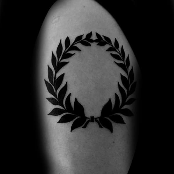 Mens Laurel Wreath Tattoo Ideas On Arm