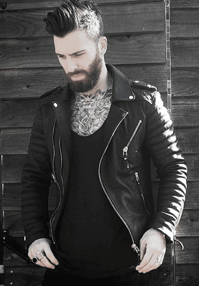 Mens Leather Jacket Black T Shirt How To Wear A Leather Jacket Outfits Style Looks