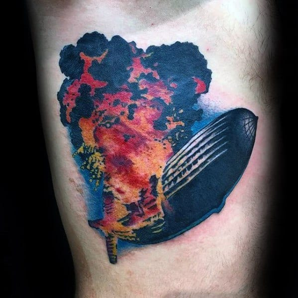 Mens Led Zeppelin Tattoo