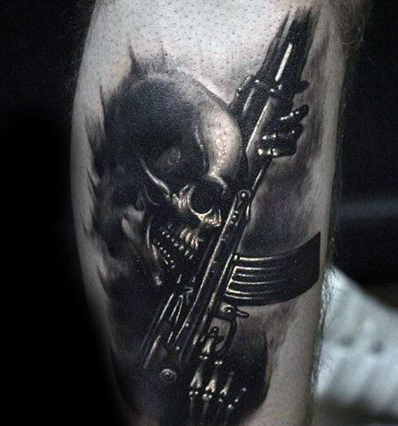 70 different tattoos for men unique ink deisgn ideas for Ak 47 tattoo