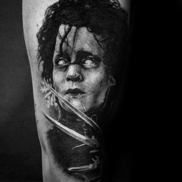 40 Edward Scissorhands Tattoo Designs For Men Movie Ink