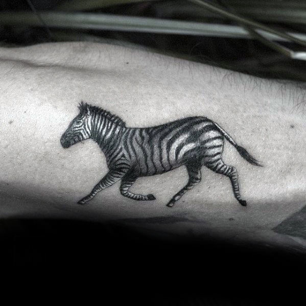 40 Zebra Tattoos For Men Safari Striped Design Ideas