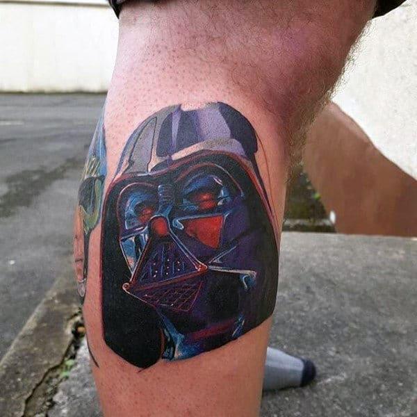 Mens Legs Darth Vader Tattooo