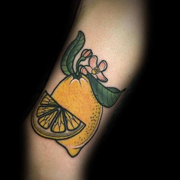 Mens Lemon Tattoo Design Ideas