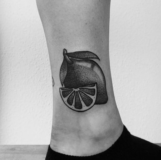 Mens Lemon Tattoo Design Inspiration