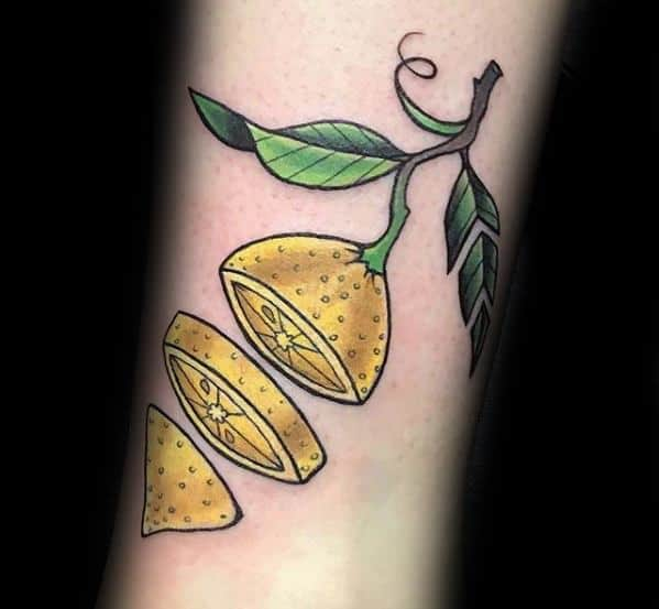 Mens Lemon Tattoo Ideas